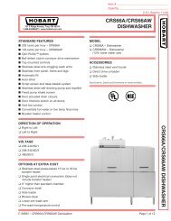 CRS66A/CRS66AW DISHWASHER CRS66A /CRS66A W DISHW ...