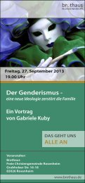 Gabriele Kuby - Freie Christengemeinde Rosenheim