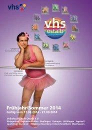 Frühjahr/Sommer 2014 - VHS Ostalb