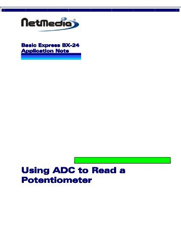 Using ADC to Read a Potentiometer - ISL