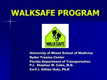 WalkSafe Program Curriculum - Miami-Dade County Public Schools