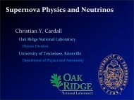 Supernova Physics and Neutrinos - snolab