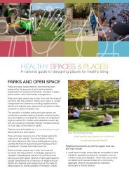 Parks and Open Space - Healthy Spaces & Places