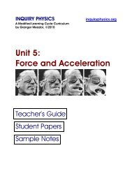 Unit 5: Force and Acceleration