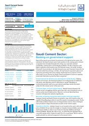 Saudi Cement Sector - Al Rajhi Capital