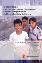 Guidelines for a Community-Based Diversion and Prevention ...