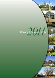 Hanney Community Plan - Oxfordshire County Council