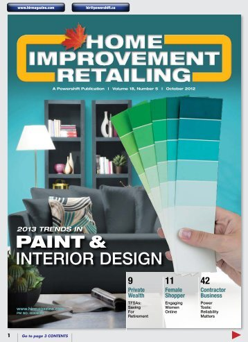 PAINT & INTERIOR DESIGN - Home Improvement Retailing