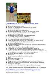 Züri-Oberland-Cup (ZOC) c/o Sportverein Satus-Uster