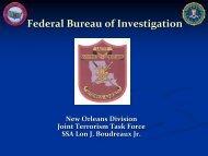 Federal Bureau of Investigation (FBI) Presentation by ... - Louisiana