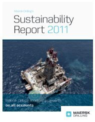 Sustainability Report 2011 - Maersk Drilling