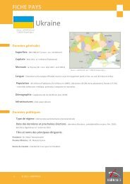 Fiche pays Ukraine, 2012 - Veille info tourisme