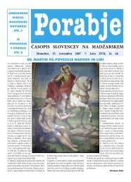 Leto XVII, št. 46 ČASOPIS SLOVENCEV NA MADŽARSKEM - porabje