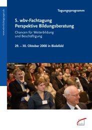 5. wbv-Fachtagung Perspektive Bildungsberatung - Petersheim