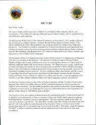 Tribal Letter, April 16, 2012