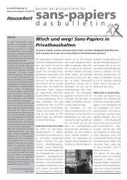 Das Bulletin 12, Juni 2013 - Sans-Papiers