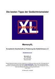 Die besten Tipps der Gedächtnismeister - MemoryXL