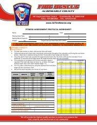 Fitness assessment protocol worksheet - albemarle