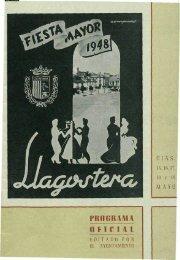 PROGRAMA OFICIAL - Arxiu Municipal de Llagostera