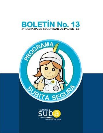Boletin Subita Segura N° 13 - Hospital Suba