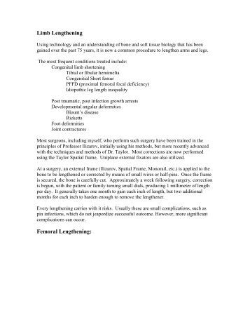 Limb Lengthening - CT-Ortho.com