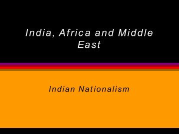 India, Africa and Middle East