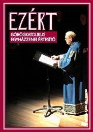 Egyházzenei értesítő 2012. december - Magyar Görögkatolikus ...