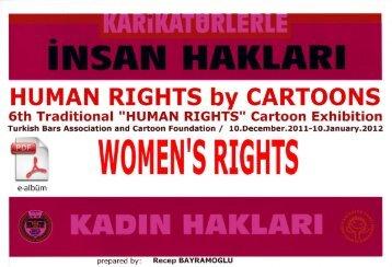 """Human Riğhts"" Cartoon Exhibition,PDF format e-catalog click here"