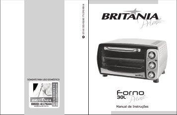 555 05 00 Rev0 Folheto de Instruções Forno 30L Prime - Britânia