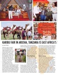 karibu fair in arusha, tanzania is east africa's sh0wcase of tr