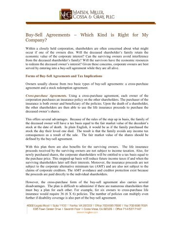 Buy-Sell Agreements – Which Kind is Right for My Company?