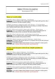 DIRECTIVES EXAMENS - Infocom.ulg.ac.be