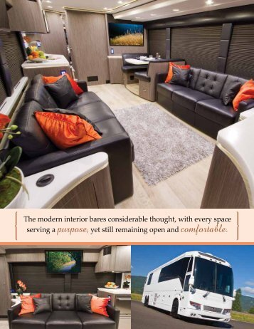The modern interior bares considerable thought ... - Marathon Coach