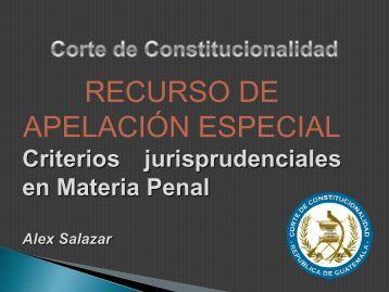 para abrir Apelación especial por Lic. Alex Stuardo Salazar Muñoz
