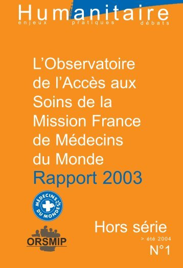 Humanitaire - Médecins du Monde