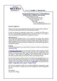 Postgraduate Application Form - Faculty of Health and Life Sciences