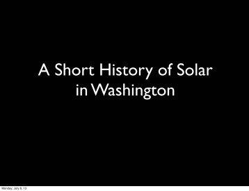view his slide presentation - Solar Washington