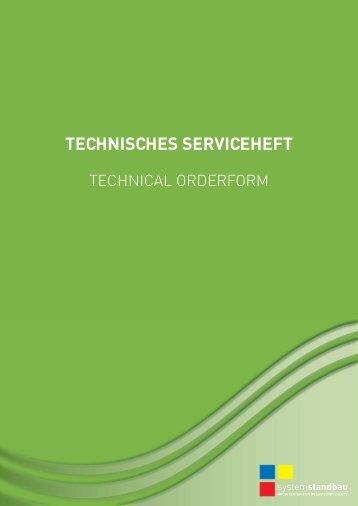 TECHNISCHES SERVICEHEFT