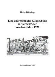 Eine anarchistische Kundgebung in Verden/Aller aus dem