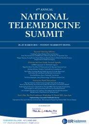 nAtionAl telemedicine Summit - eHealth - Australian College of ...