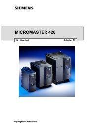 Micromaster 420 -käyttöohje - Siemens