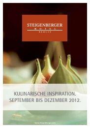 Kulinarischer Kalender - Steigenberger Hotels and Resorts