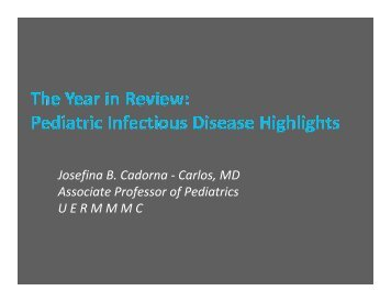The Year in Review: Pediatric Infectious Disease Highlights