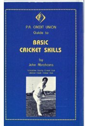 BASIC CRICK6T SKILLS - Weston Creek Cricket Club