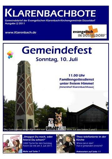 Gemeindefest - Evangelische Klarenbach-Kirchengemeinde