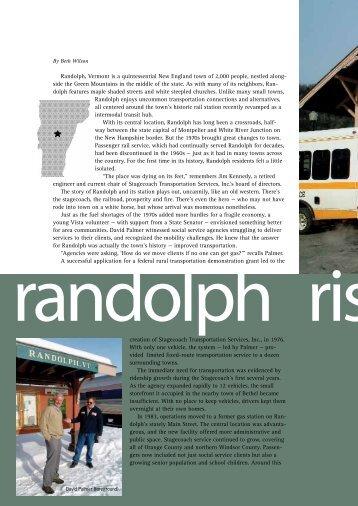 Randolph Rising, RAIL #8 - The Community Transportation ...