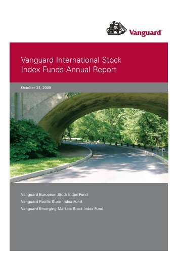 Vanguard International Stock Index Funds Annual Report