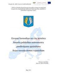 Eiropas Savienības un citu ārvalstu finanšu palīdzības instrumentu ...