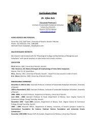 Curriculum Vitae Dr. Irfan Aziz - Halophyte.org