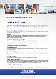 Luftfracht Export - Senator International